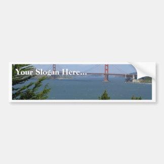 San Francisco Bay Seen From The Precidio Car Bumper Sticker