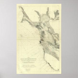 San Francisco Bay showing San Andreas Rift Poster