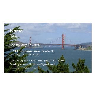 San Francisco Bay visto del Precidio Plantillas De Tarjetas De Visita