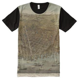 San Francisco Birds eye view All-Over-Print T-Shirt