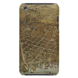 San Francisco Birds eye view Barely There iPod Cases