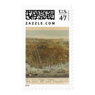 San Francisco Birds eye view Postage Stamp