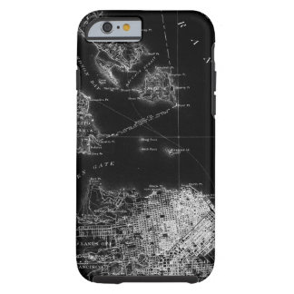San Francisco Black and White Map Tough iPhone 6 Case