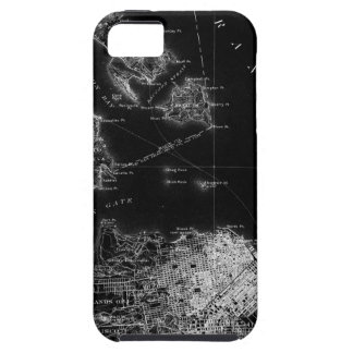 San Francisco Black and White Map iPhone 5 Case