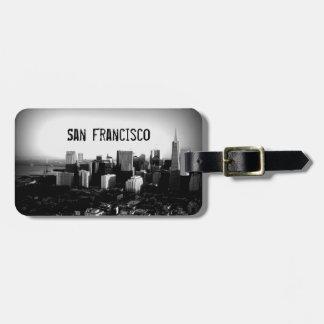 San Francisco Black & White Luggage Tag