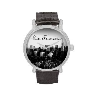 San Francisco blanco y negro Reloj De Mano