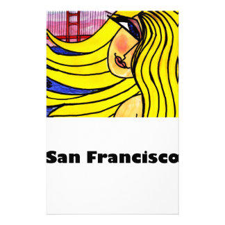 San Francisco Blonde and the Golden Gate Stationery