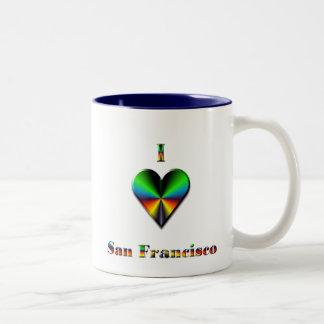 San Francisco -- Blue, Green & Orange Two-Tone Coffee Mug