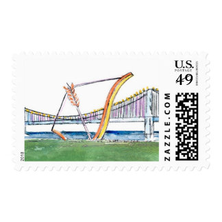 San Francisco Bow and Arrow Postage Stamp