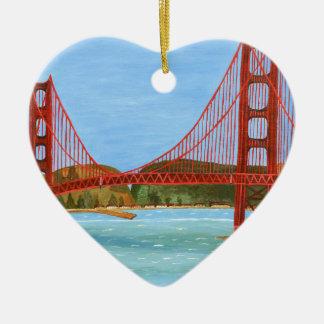 San Francisco Bridge Ceramic Ornament