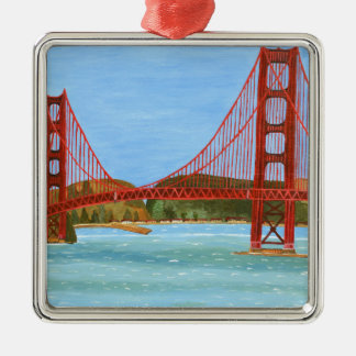 San Francisco Bridge Metal Ornament