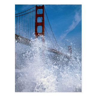 San Francisco Bridge under spray, California, U.S. Postcard