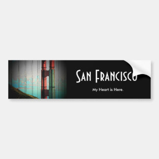 San Francisco Bumper Sticker Car Bumper Sticker