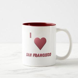 San Francisco -- Burgundy Two-Tone Coffee Mug