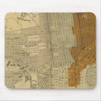 San Francisco burnt area, 1906 Mouse Pad