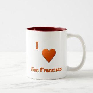 San Francisco -- Burnt Orange Two-Tone Coffee Mug