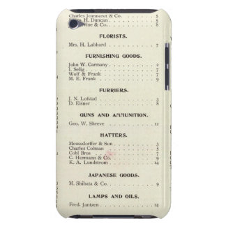 San Francisco Business Index Page iPod Touch Case-Mate Case