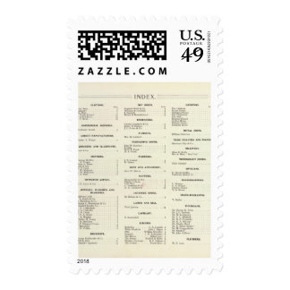 San Francisco Business Index Page Stamps