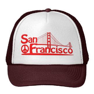 SAN FRANCISCO BY EKLEKTIX GOLDEN GATE BRIDGE. TRUCKER HAT