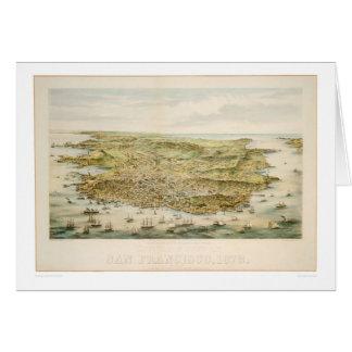 San Francisco, CA 1873 (1528A) Tarjeta De Felicitación