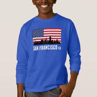 San Francisco CA American Flag T-Shirt