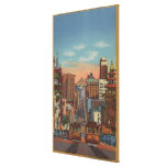 San Francisco, CA - Cable Cars going up Gallery Wrapped Canvas
