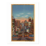 San Francisco, CA - Cable Cars going up Postcard