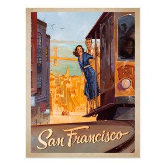 San Francisco, CA - carretilla Postal