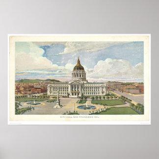 San Francisco, CA. City Hall (0286A) Poster