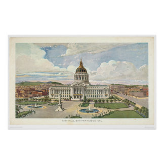 San Francisco, CA. City Hall (0286A) Posters