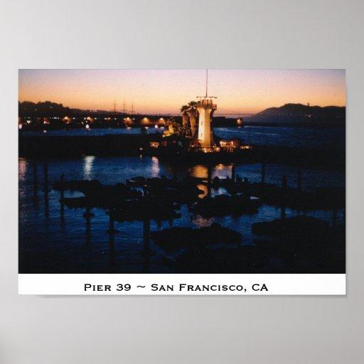 ~ San Francisco, CA del embarcadero 39 Póster