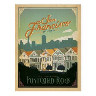 San Francisco, CA - fila de la postal