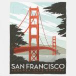 San Francisco, CA - Golden Gate Bridge Fleece Blanket