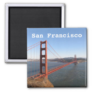 San Francisco CA, Golden Gate Bridge fridge magnet
