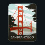 "San Francisco, CA - Golden Gate Bridge Magnet<br><div class=""desc"">Anderson Design Group is an award-winning illustration and design firm in Nashville,  Tennessee. Founder Joel Anderson directs a team of talented artists to create original poster art that looks like classic vintage advertising prints from the 1920s to the 1960s.</div>"