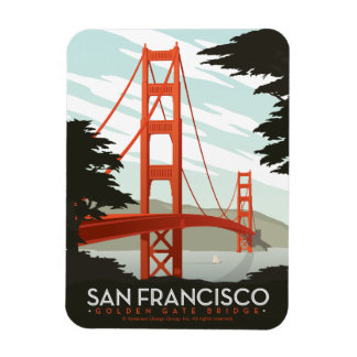 San Francisco, CA - Golden Gate Bridge Magnet