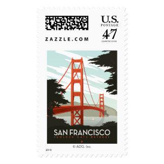 San Francisco, CA - Golden Gate Bridge Postage