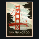 "San Francisco, CA - Golden Gate Bridge Postcard<br><div class=""desc"">Anderson Design Group is an award-winning illustration and design firm in Nashville,  Tennessee. Founder Joel Anderson directs a team of talented artists to create original poster art that looks like classic vintage advertising prints from the 1920s to the 1960s.</div>"