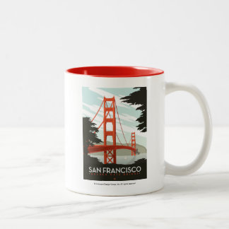 San Francisco, CA - Golden Gate Bridge Two-Tone Coffee Mug