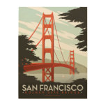 San Francisco, CA - Golden Gate Bridge Wood Wall Decor