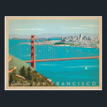 "San Francisco, CA - Golden Gate Postcard<br><div class=""desc"">Anderson Design Group is an award-winning illustration and design firm in Nashville,  Tennessee. Founder Joel Anderson directs a team of talented artists to create original poster art that looks like classic vintage advertising prints from the 1920s to the 1960s.</div>"