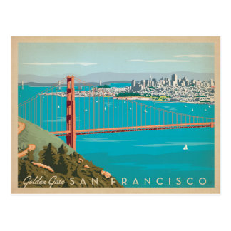 San Francisco, CA - Golden Gate Postcard