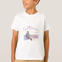 San Francisco, CA Golden Gate Rainbow T-Shirt