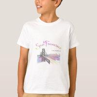San Francisco, CA Golden Gate Rainbow T-Shirt
