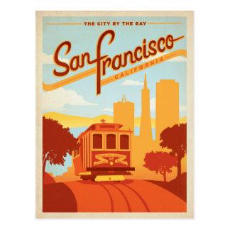 San Francisco, CA - la ciudad por la bahía Tarjeta Postal