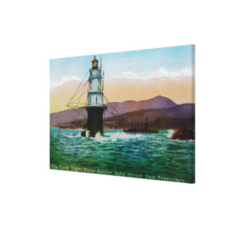 San Francisco, CA Mile Rock Light House Gallery Wrapped Canvas