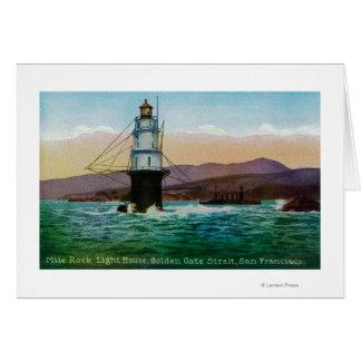 San Francisco, CA Mile Rock Light House Card