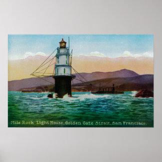 San Francisco, CA Mile Rock Light House Print