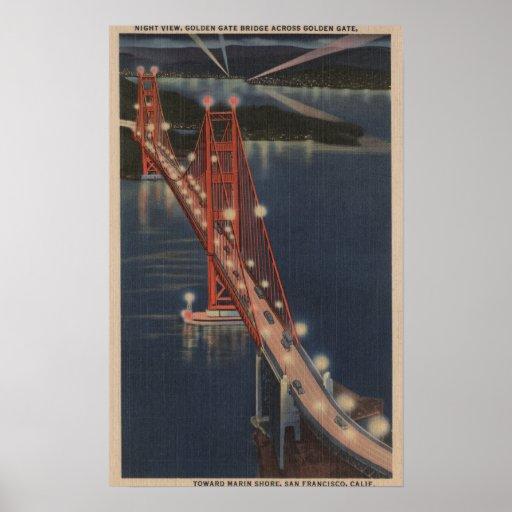 San Francisco, CA - opinión de la noche del Golden Posters