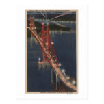 San Francisco, CA - opinión de la noche del Golden Tarjetas Postales